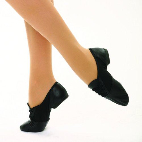 Capezio 458 Geteilte Sohle Jazz Schuhe Schwarz US 11UK Größe 8,5Neu ()