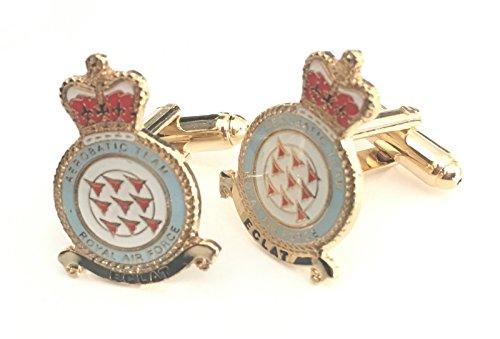 RAF The Red Arrows jets de Royal Air Force officielle en émail Boutons de manchette Huppé (N60)