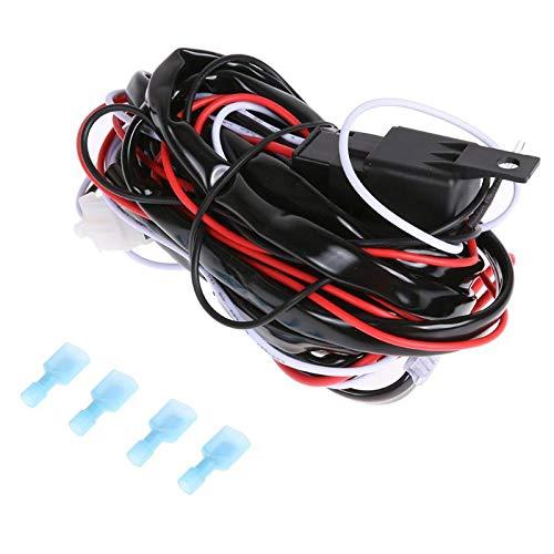 Alwayswe 12V 40A Auto LED-Arbeitsleuchte Kabelbaum Relay Kit auf/aus Schalter für Hid Nebel-Lampe, LED, Lange Lichtleiste, Offroad Spots -