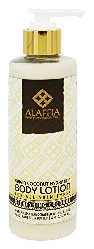 Alaffia- Virgin Coconut Hydrating Body Lotion, Refreshing Coconut- 8 oz by Alaffia