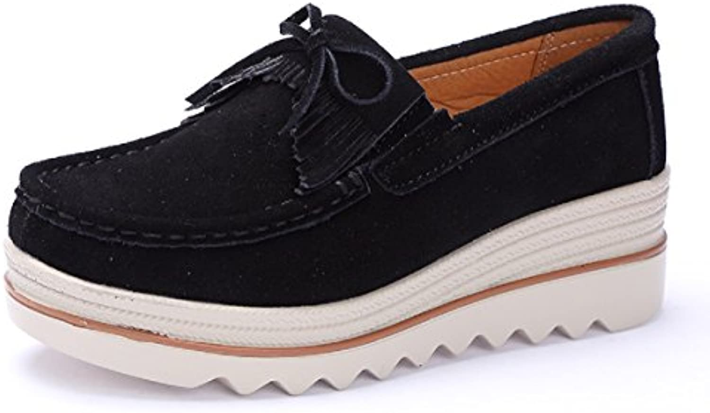 Mujer Mocasines de Loafer Plataforma Flat Casual Primavera Verano Zapatos de Deporte Cuña 5cm Zapatillas Neogro...