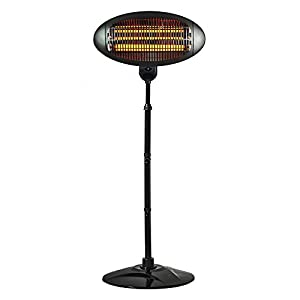 Status HOPH-2000W1PKB Outdoor Halogen Patio Heater-2000w, Stainless Steel, 2000 W, Black