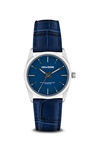 Zadig & Voltaire Unisex Analogue Classic Quartz Watch with Leather Strap ZVF231