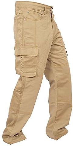 Newfacelook Hommes De Travail Pantalon Trouser Jeans Heavy Duty Straight Fit Khaki W40 x L30