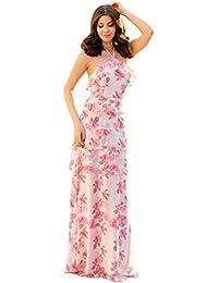 6d1453cfd85 Ever Pretty Women s Floral Print Long Chiffon Bridesmaid Dresses 07239