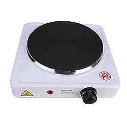 Lloytron E4102WH Kitchen Perfected Single Hotplate, 1500 W, White