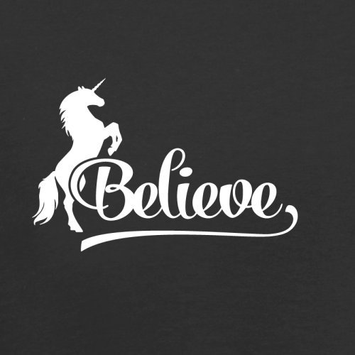 Believe Unicorn - Herren T-Shirt - 13 Farben Schwarz