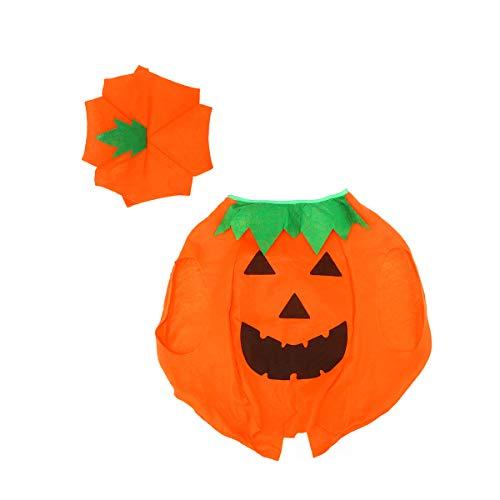 BELLENOV Halloween Laterne Gesicht Kürbis Kostüm in Non-Woven Shirt Kinderkleidung mit komischer (Non Halloween Kostüm)