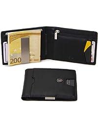 Portafoglio Uomo Crenz Vera Pelle Blocco RFID. Porta foglio Piccolo Con  Portamonete ddb742533fb