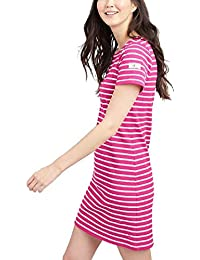 c5cb69ead9 Joules Riviera Dress with Short Sleeves - SS19 Pink Cream Stripe 10