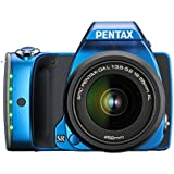 Pentax K-S1 SLR-Digitalkamera (20 Megapixel, 7,6 cm (3 Zoll) TFT Farb-LCD-Display, ultrakompaktes Gehäuse, Anti-Moiré-Funktion, Full-HD-Video, Wi-Fi, HDMI) Kit inkl. DAL 18-55 mm Objektiv blau