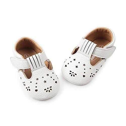 Bild von ESTAMICO Baby Mädchen Turnschuhe Anti-Rutsch Sommer Kleinkind Prinzessin Schuhe Weiß 15-18 Monate Etikettengröße 5