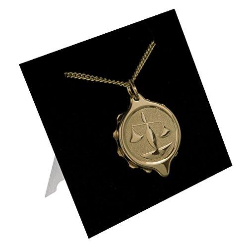 SOS Talisman 222316 Waage Medizinisches Notfall-Halskette, Notfall-Anhänger, vergoldet, Diabetes, Epilepsie, Allergie, wasserdicht.