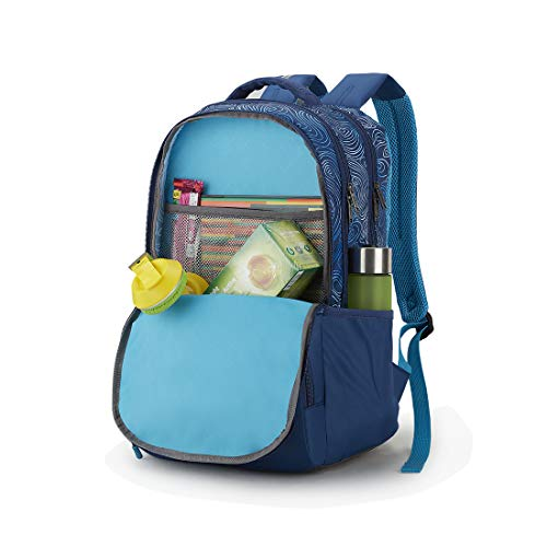 Best american tourister backpack in India 2020 American Tourister Turf 32 Ltrs Blue Casual Backpack (FF0 (0) 01 001) Image 5