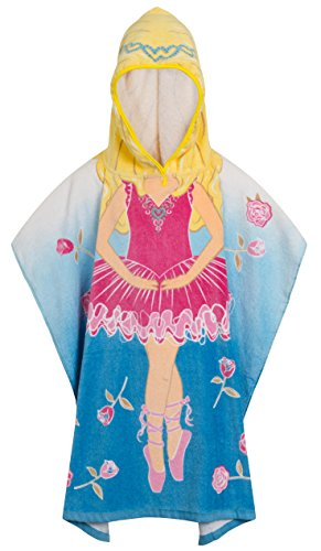 Mermaid Age 7-11 Quality 100/% Cotton Girls Kids Childrens Hooded Poncho Swimming Bath Towel