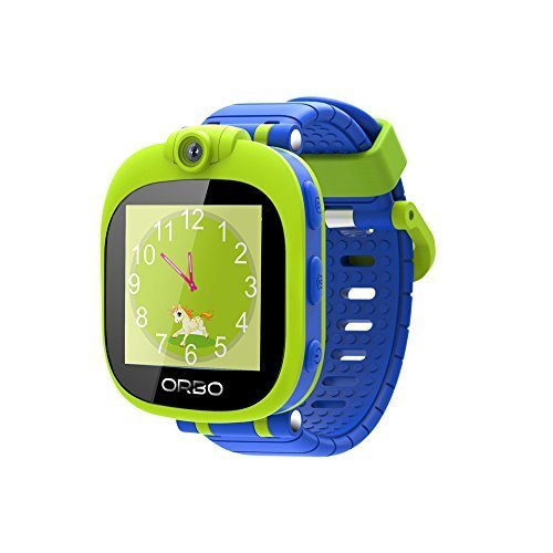 Orbo Kids Smartwatch with Rotating Camera, Bluetooth Phone Pairing, Games, Timer, Alarm Clock, Pedometer & Much More Green