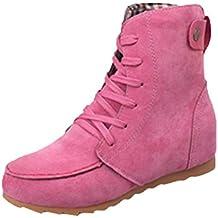 Botines Mujer Cuña Planos Invierno Planas Botas Tacon Casual Zapatos para  Dama Plataforma 5cm Elegante Zapatillas ... 403e3f7ed9d