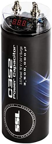 Sound Storm C352 3.5 Farad Car Capacitor for Energy Storage to Enhance Bass Demand from Audio System