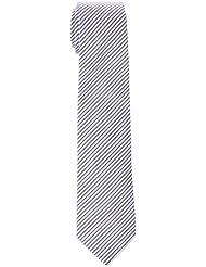 Scalpers Serrsucker TIE, Corbata para Hombre, Stripes Navy, UNICA