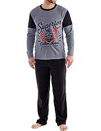 Ensembles de pyjama polaire Harvey James Warm pour hommes, vêtements de détente thermiques