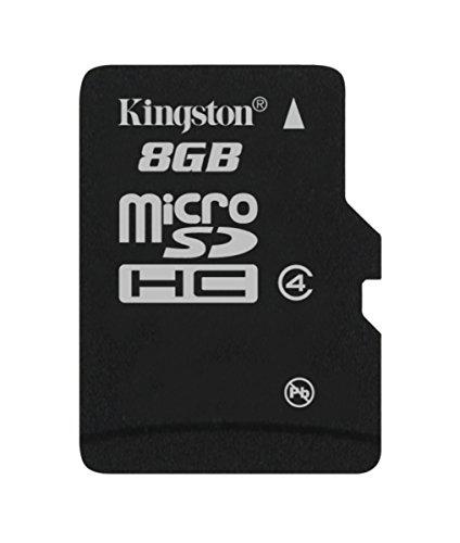 Kingston SDC4/8GB microSDHC 8GB bis zu 4MB/s Klasse 4 Speicherkarte