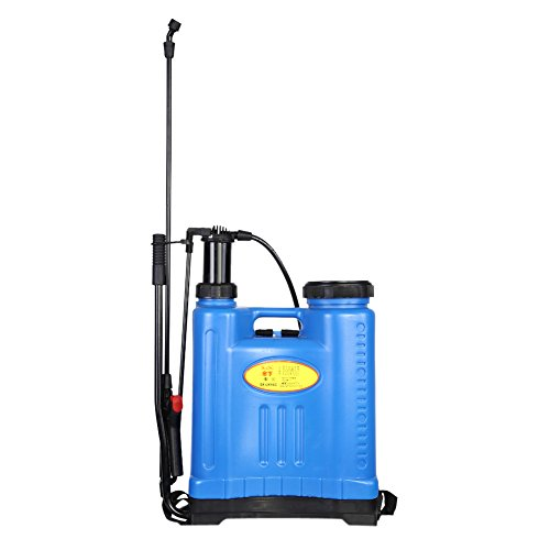 Zerodis Rucksack Sprayer Drucksprühgerät Wasser Spritze Landwirtschaftliche Gartengeräte für Rasen Bauernhof 16L