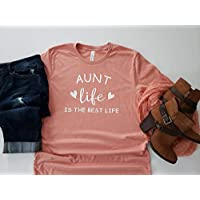 565pir Aunt Life is the Best Life TShirt Gift for Aunt Womens TShirt Pregnancy Announcement