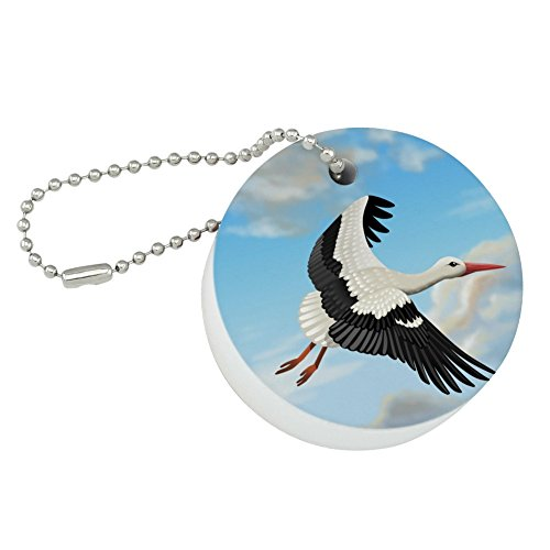 Graphics and More Flying Stork Round Floating Foam Fishing Boat Buoy Key Float Keychain