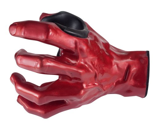 GuitarGrip LHGH102 - Colgador de pared con forma de mano para guitarra, color rojo