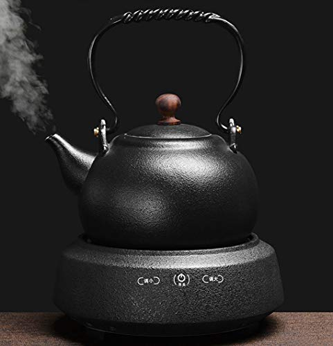 AA-SS Keramik Wasserkocher, Teekocher, Keramik Wasserkocher, Tee-Set, Retro Japanischer schwarzer Tee, elektrische Keramik Herd, Haushalt Tee Herd, 24 * 20 * 30 cm / 1000 W / 1.8L