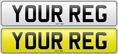 Pair Standard Number Plates 100% MOT Compliant - Car / Van Test