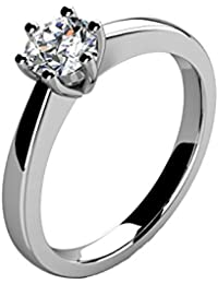 Platinum Solitaire Engagement Ring 0.30 Carat Diamonds - Top Quality 100% Natural Diamond Certificates & Valuation Report Included