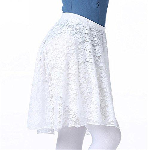 Ballet tabliers de formation / ballet Lei maille jupe de gaze White