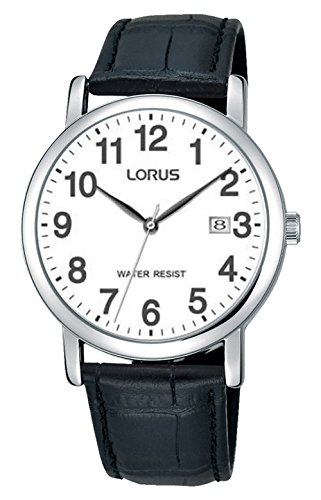 Lorus Unisex-Adult Analogue Classic Quartz Watch with Leather Strap RG865CX9