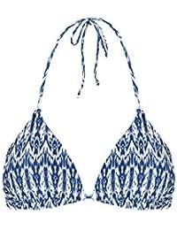 Accessorize Soutien-gorge de bikini forme triangle au motif floral réversible - Femme