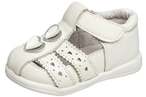 (gibra Leder Sandalen Ballerinas für Babys und Kleinkinder, Art. 9537, Weiß, Gr. 19)