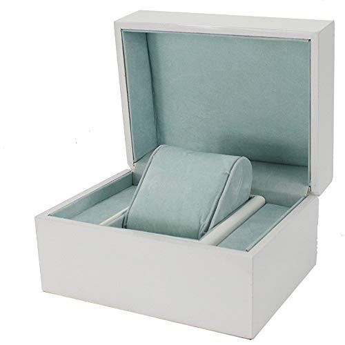 NeoMcc Gummi-Embryo-Uhr-Box Schmuck-Box High-End-Schmuck-Ring-Armband Schmuck Geschenk-Box -Watch Anzeigen-Aufbewahrungsbehälter (Color : White, Size : S)