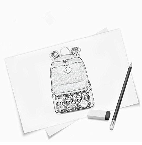 Imagen de backpack  escolares, marsoul mujer  escolar lona grande bolsa estilo étnico vendimia casual colegio bolso para chicas gypsy azul  alternativa