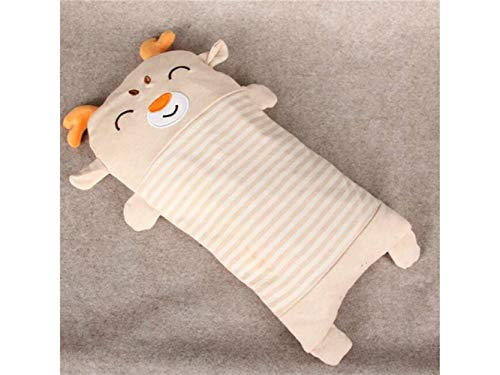Godlife Almohada de bebé Baby Pillow New Born Baby Almohada de algodón y Cuello Suppor Sleeping Cushion (Deer) para Dormir