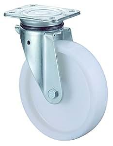 BS Rollen Schwerlast-Lenkrolle, Anschraubplatte, Kunststoffrad, 200 mm, N100.B10.201