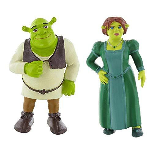 Shrek Mini-Figur Spielzeug - Fiona, Shrek, Esel und dem gestiefelten Kater (Shrek/Fiona)