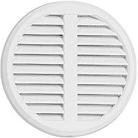 Rejilla de ventilación ajustable de plástico para tubos de 75-125mm, de medida 175mm, con protección contra insectos