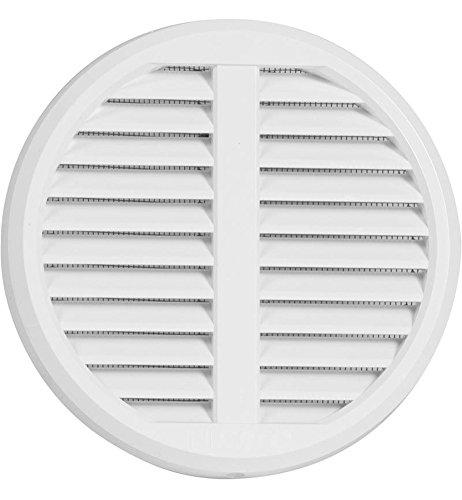 Griglia di ventilazione regolabile per Tubi di plastica di 75 – 125 mm Deck mass175 mm con zanzariera