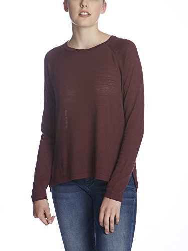 Bench Damen Langarmshirt BASE, Gr. Large, Rot (Dark Red BU023)
