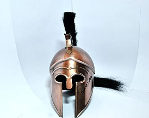 Thor Instruments.Co Medieval Corinthian Armor Helmet Black Plume Replica Copper Finish