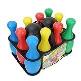 Alomejor Jouet Boules de Bowling Jeux de Quilles Bowling avec 10 Quilles 2 Boules de Bowling et Sac de Transport pour Les Faveurs du Parti d'apprentissage Précoce pour Les Tout-petitss