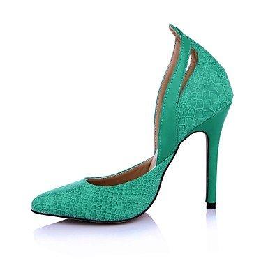 Da lavoro Casual A Verde Comoda Tacchi green WSX donna stiletto PLM PU Nero Poliuretano e Ufficio Formale xYqx58gvw