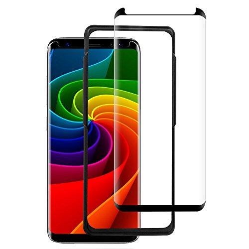 Vkaiy Galaxy S8 Panzerglas, S8 Schutzfolie Panzerglas 3D Vollständige Abdeckung/9H Härte/Anti-Kratzer/Wasserdicht Panzerglas Schutzfolie für Samsung Galaxy S8