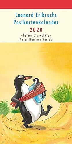 Leonard Erlbruchs Postkartenkalender 2020: Heiter bis wolkig