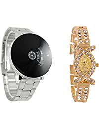 RTAD Turnable Analogue Black Dial Men's Watch And Chain Aks Watches For Mens And Womens